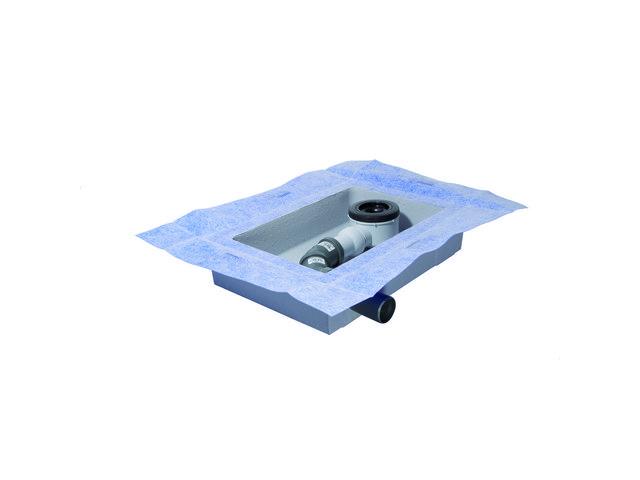 IS Ablaufbox groß DN50 460x320x100mm links