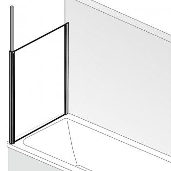 HSK Premium Softcube Seitenwand Links Alu Silber-Matt mit Handtuchhalter Chinchilla mit Beschichtung inkl. Aufmaßservice