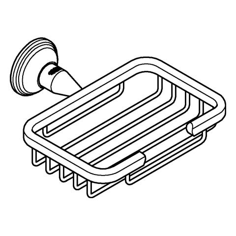 GROHE Ablagekorb Essentials Authentic 40659_1 klein nickel gebürstet
