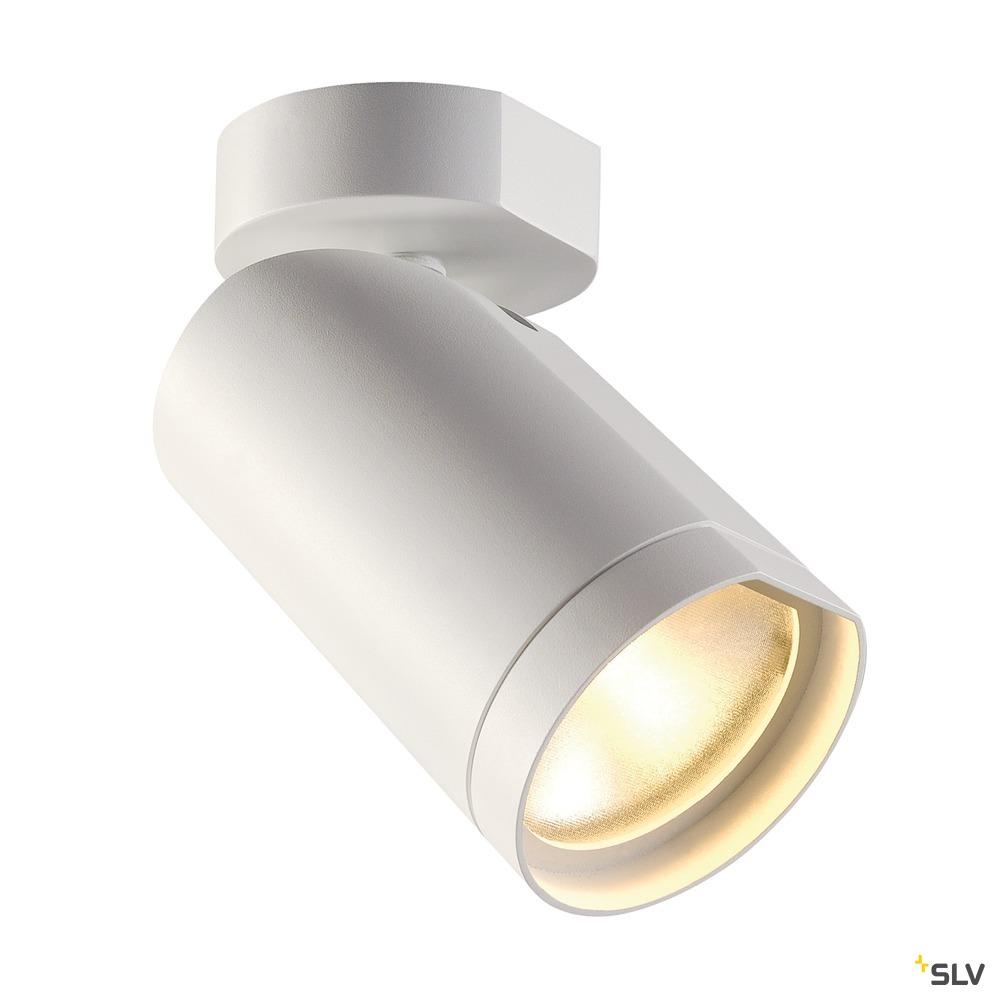 BILAS 1, Wand- und Deckenleuchte, Spot, einflammig, LED, 2700K, rund, weiß matt, 25°, 16W, inkl. Rosette