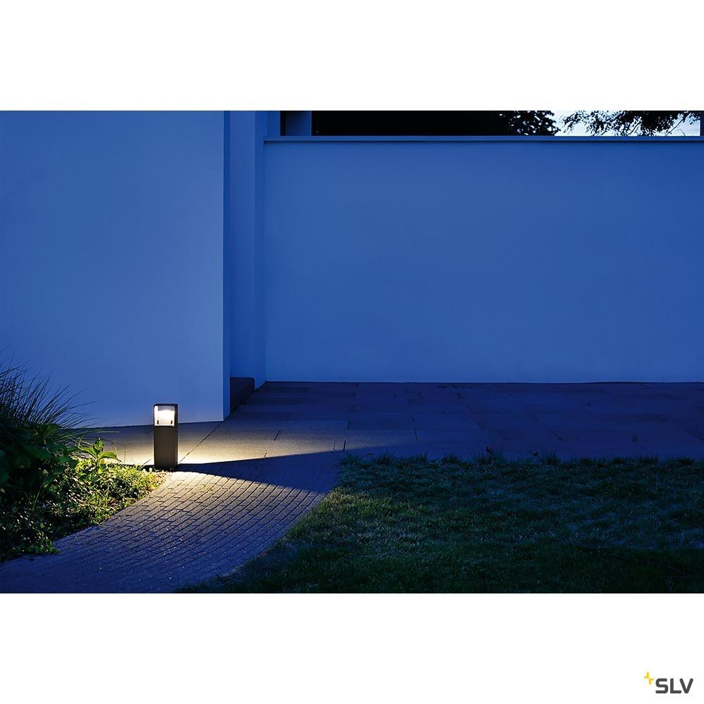 LOGS 40, Outdoor Standleuchte, LED, 3000K, IP44, eckig, anthrazit, L/B/H 13/8/39,5 cm, 8W