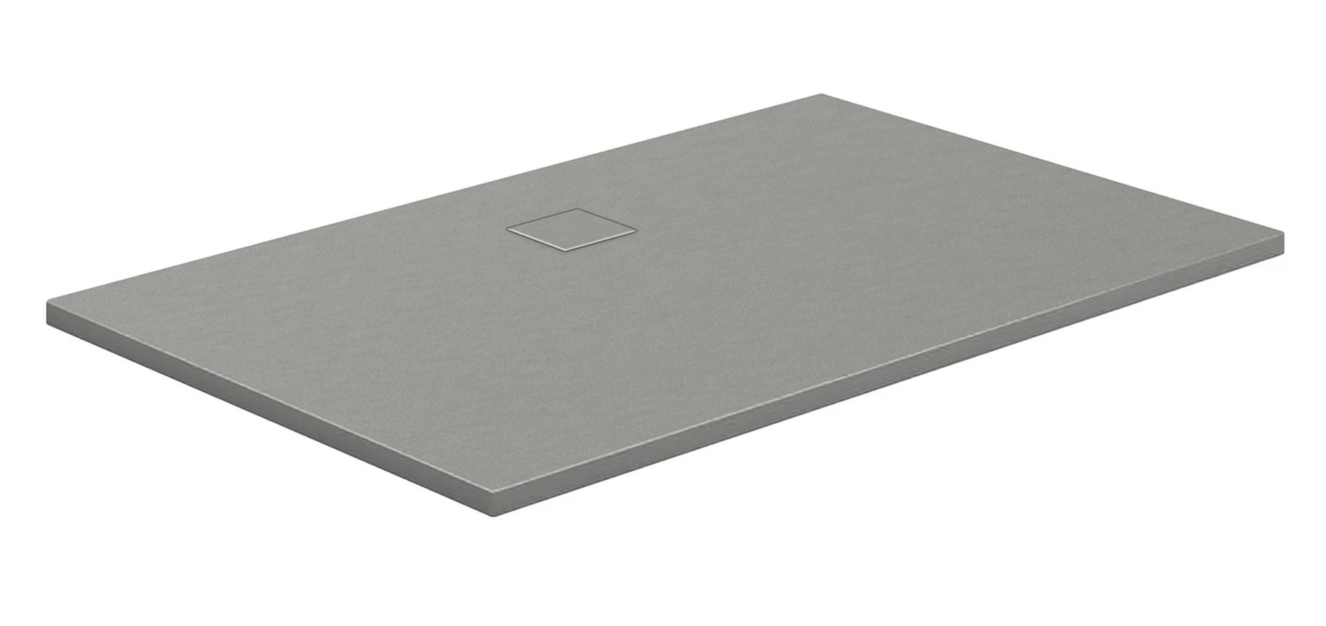 HSK Marmor-Polymer-Duschwannen, Steinoptik - Rechteck 80x140 Weiß ohne AntiSlip-Beschichtigung