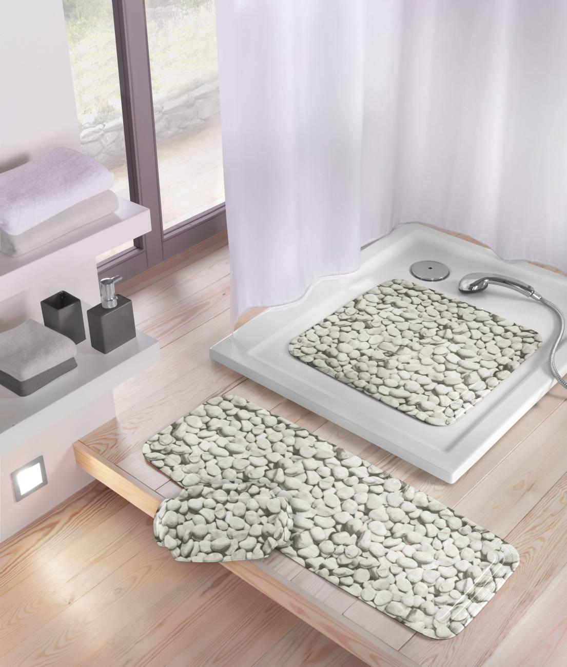Duscheinlage Stepstone PVC Grau 55x 55 cm