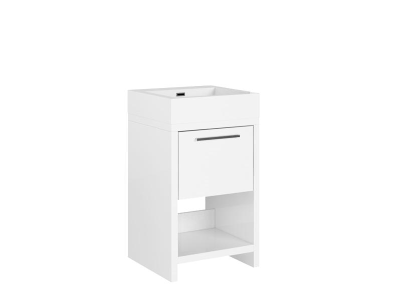 Treos Badmöbel ohne Hahnloch weiss 500x480x850 mm