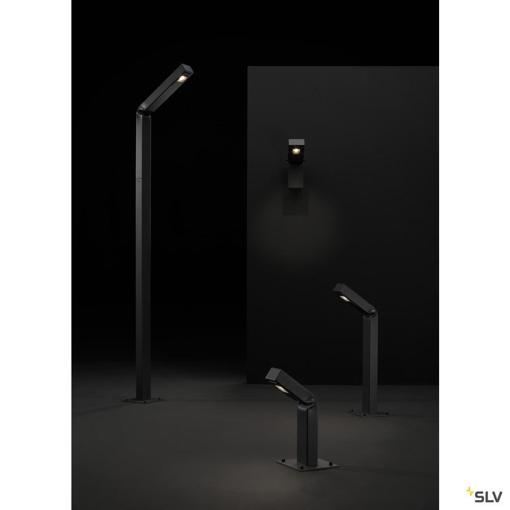 BENDO, Outdoor Standleuchte, LED, 3000K, IP55, anthrazit, L/B/H 47,5/21/225 cm, 12W