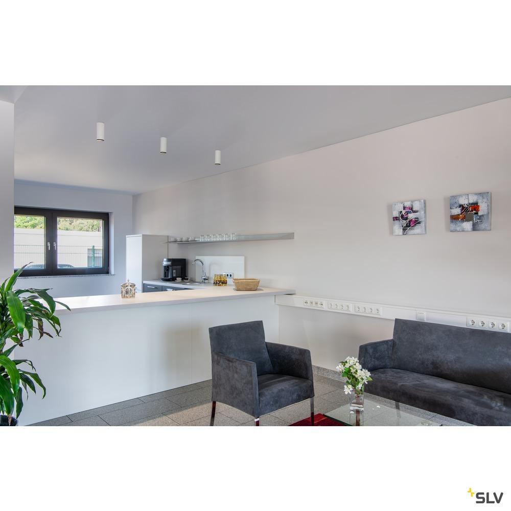 NUMINOS® CL PHASE S, Indoor LED Deckenaufbauleuchte weiß/schwarz 4000K 60° weiß