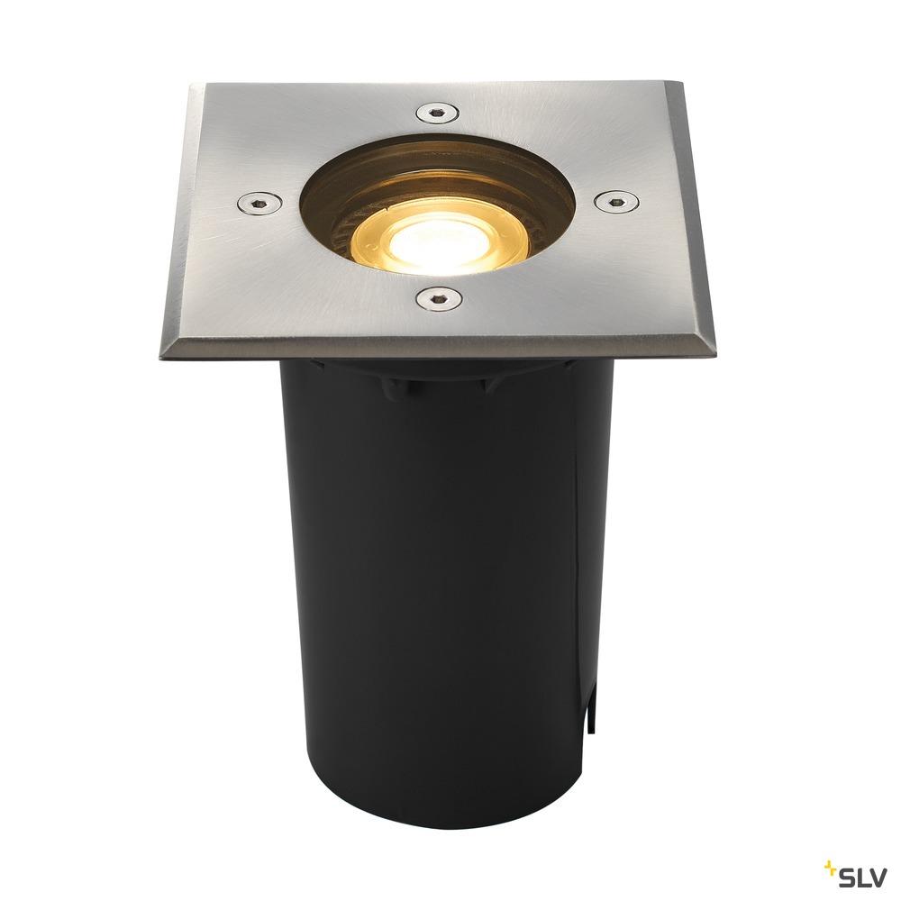 SOLASTO 120, Outdoor Bodeneinbauleuchte, LED GU10 51 mm, IP67, rund, edelstahl, max. 6W