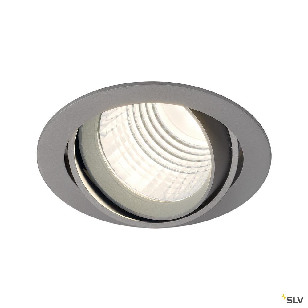 NEW TRIA DLMI, Einbauleuchte, LED, 4000K, rund, silbergrau, 60°, schwenkbar, inkl. Clipfedern