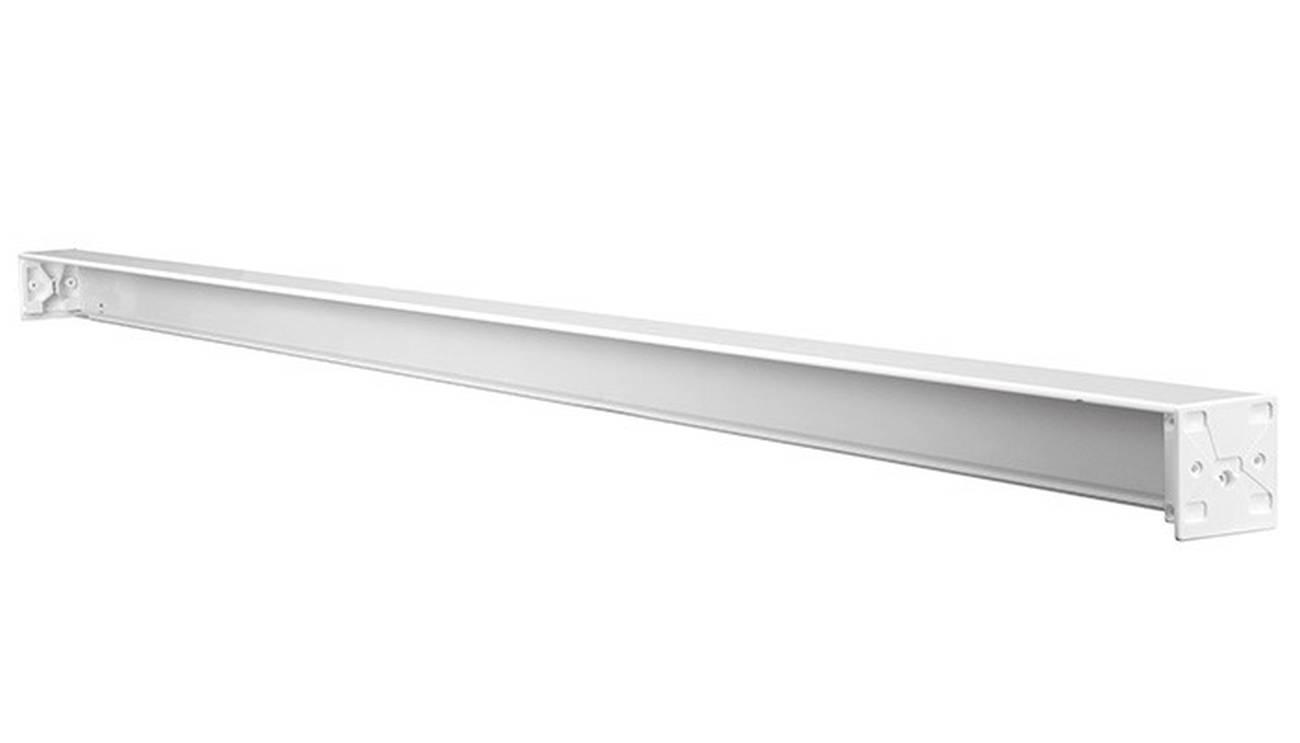 DV-Rollo Leerkassette Aluminium, Kunststoff Weiss 134 cm