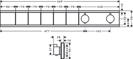 HG Thermostat Unterputz RainSelect
