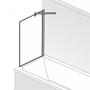 HSK Favorit Nova Seitenwand inkl. Aufmaßservice Alu Silber-Matt Mattglas (sandgestrahlt) mit Beschichtung