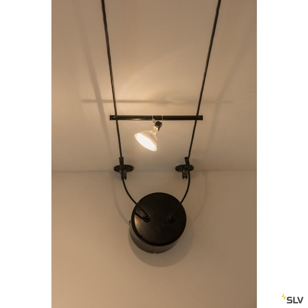 COSMIC, Lampenhalter für TENSEO Niedervolt-Seilsystem, QR-C51, chrom, schwenkbar, 2 Stück