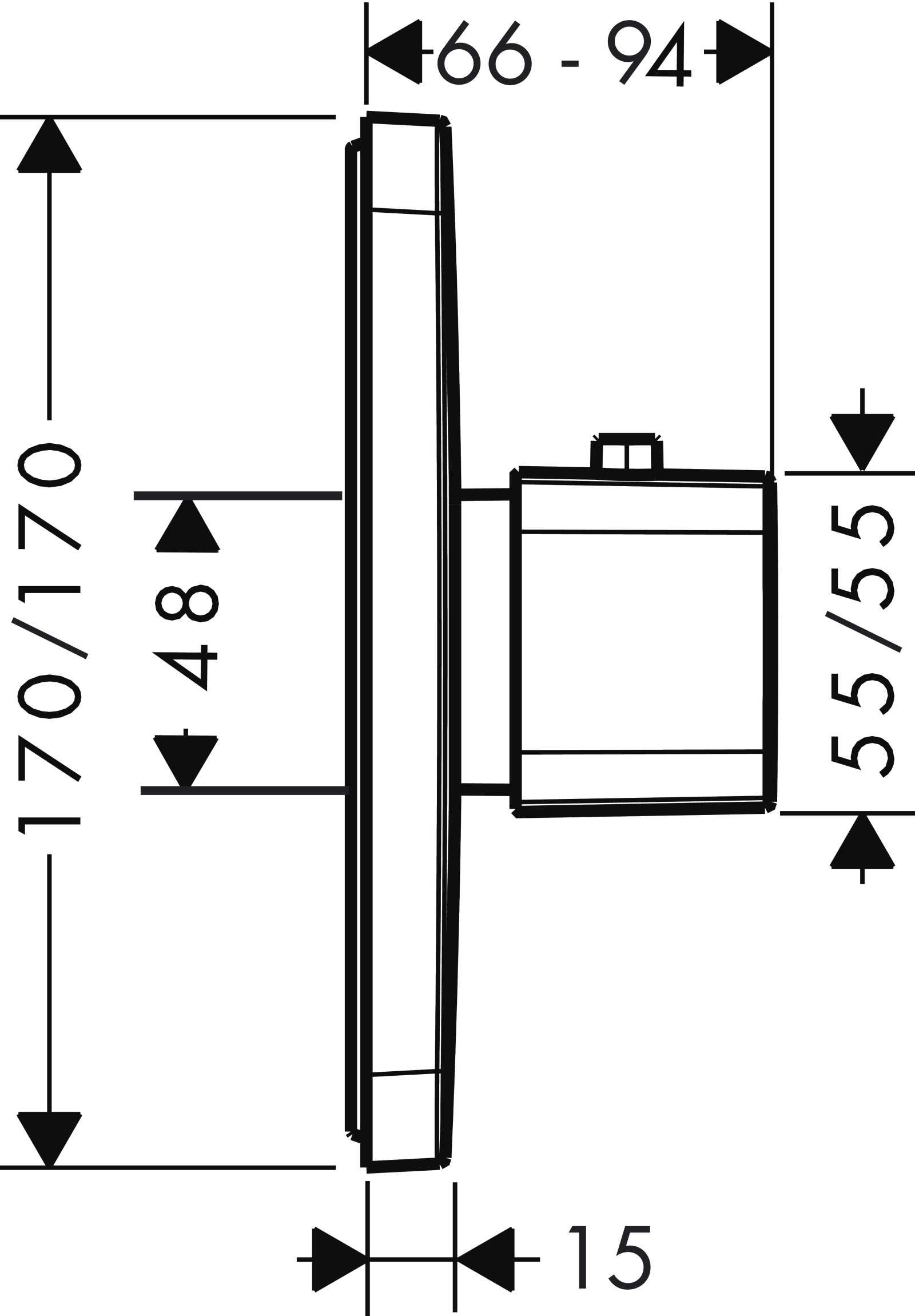 HG Thermostat Unterputz Axor Urquiola