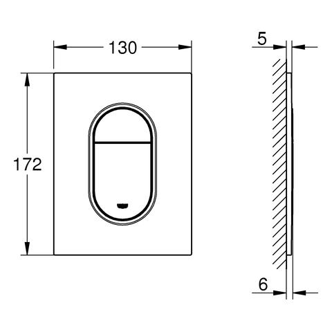 GROHE WC-Betätigung Arena Cosmopolitan S 37624 2-M./Start&Stopp nickel gebürstet