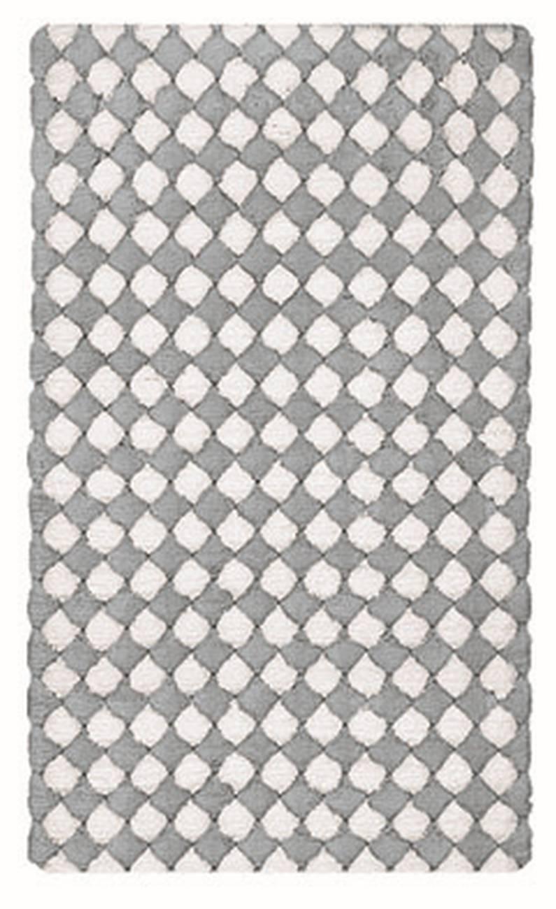 Badteppich Merida 100 % Baumwolle Silbergrau