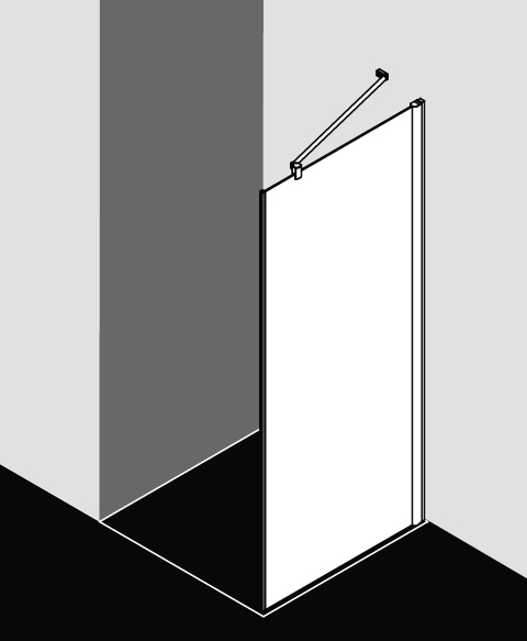 Kermi Seitenwand Pega TWO 1230x 1850 GAK: 1190-1215 SIHG ESG klar Clean