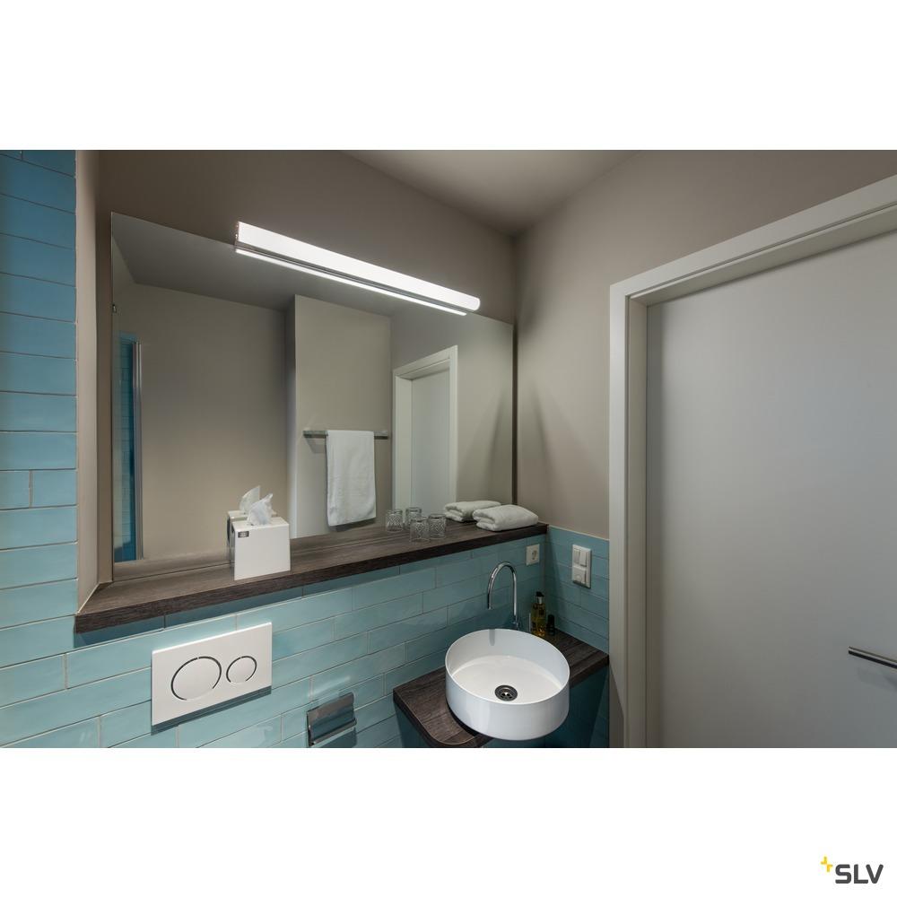 MARYLIN, LED Indoor Wandaufbauleuchte, chrom, IP44, 3000K, 21W