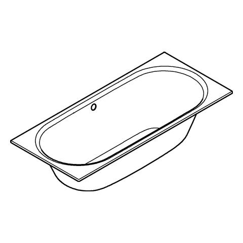 GROHE Einbau-Badewanne Essence 39620 EasyClean alpinweiß