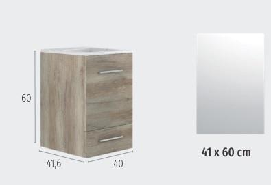 Thielsch Badmöbel Cube Set Weiß Glanzlackiert