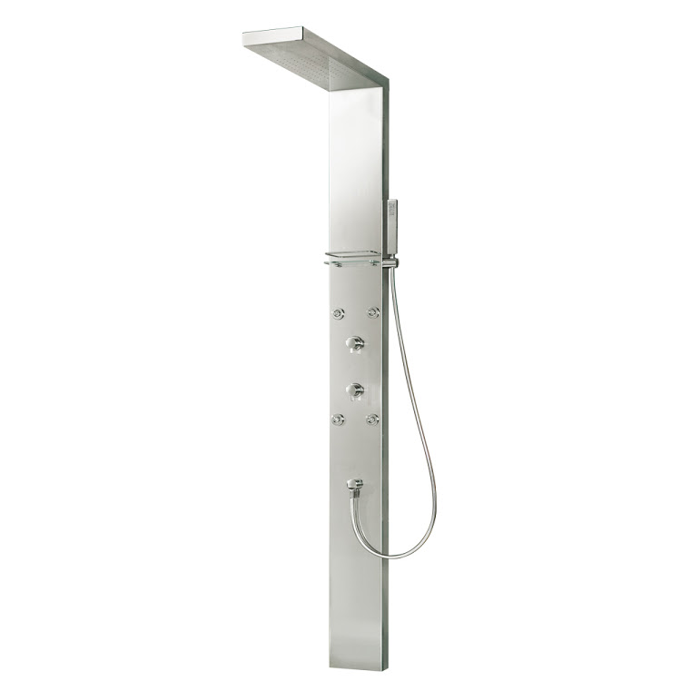 HSK Shower und Co Duschpaneele Lavida - freihängende Regentraverse, bodenstehend