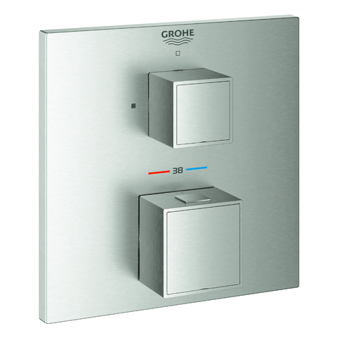 GROHE THM-Brausebatterie Grohtherm Cube 24153 FMS für 35600 supersteel