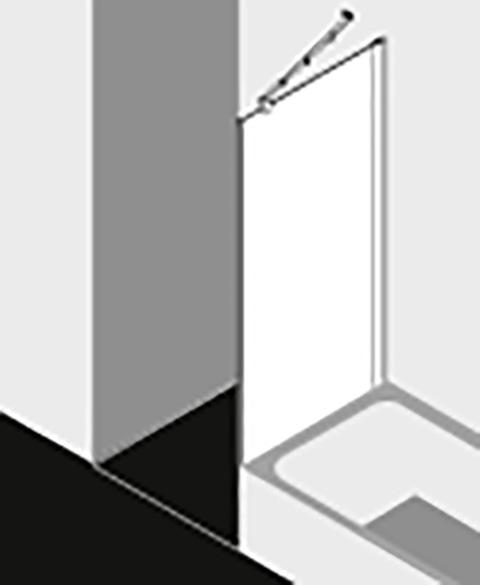 Kermi Seitenwand Diga TVD 1000x 1750 BV: 980-1000 WEI ESG Opaco