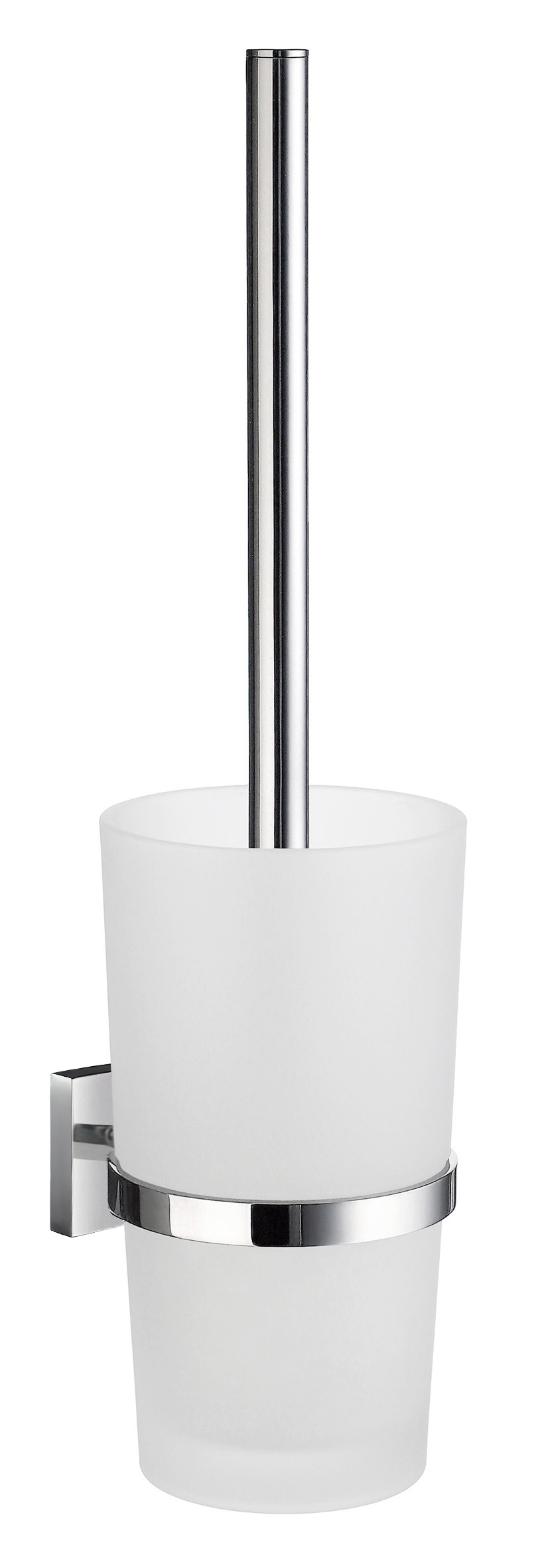 SMEDBO HOUSE WC-Bürste mit Behälter Verchromt/Mattglas