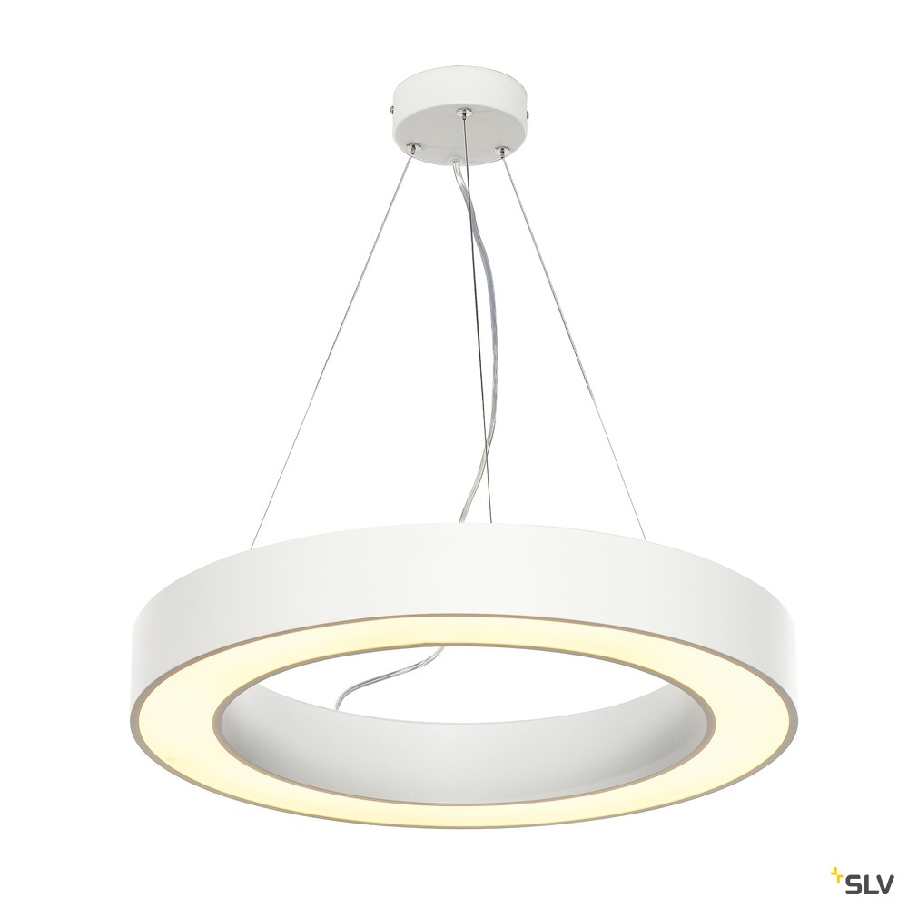 MEDO RING 60, Pendelleuchte,  LED, weiß, Ø 60 cm, inkl. LED-Treiber