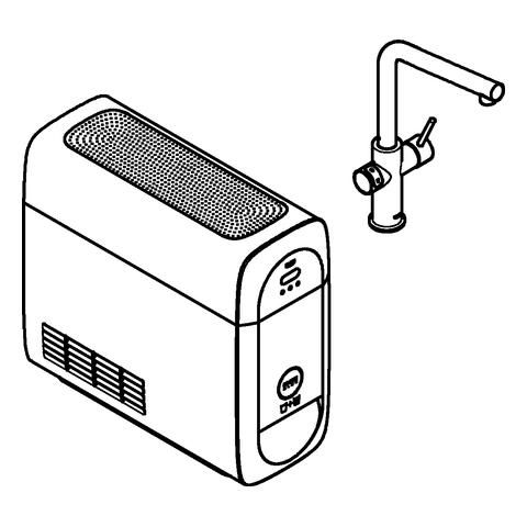 GROHE Starter-Kit GROHE Blue Home 31454 mit EH-Spültischbatterie L-Auslauf chrom