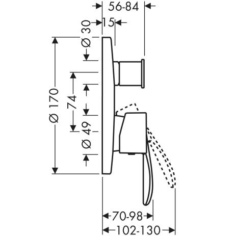 HG Wannenmischer Unterputz Axor