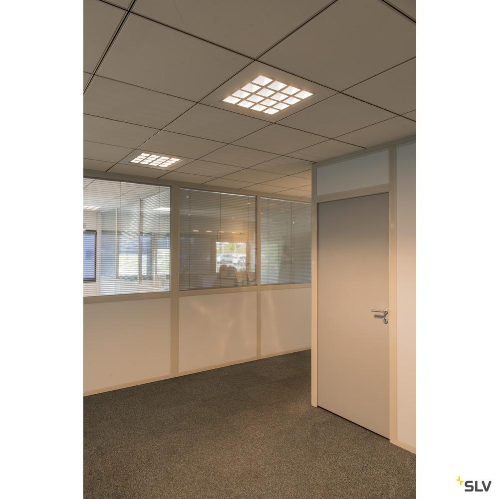 PAVANO 600x600, Indoor LED Deckeneinbauleuchte weiß 4000K UGR