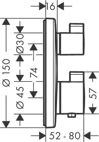 HG Thermostat Unterputz Ecostat S