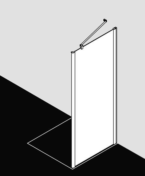 Kermi Seitenwand Pega TWD 1100x 1850 BV: 1065-1090 SIHG ESG klar