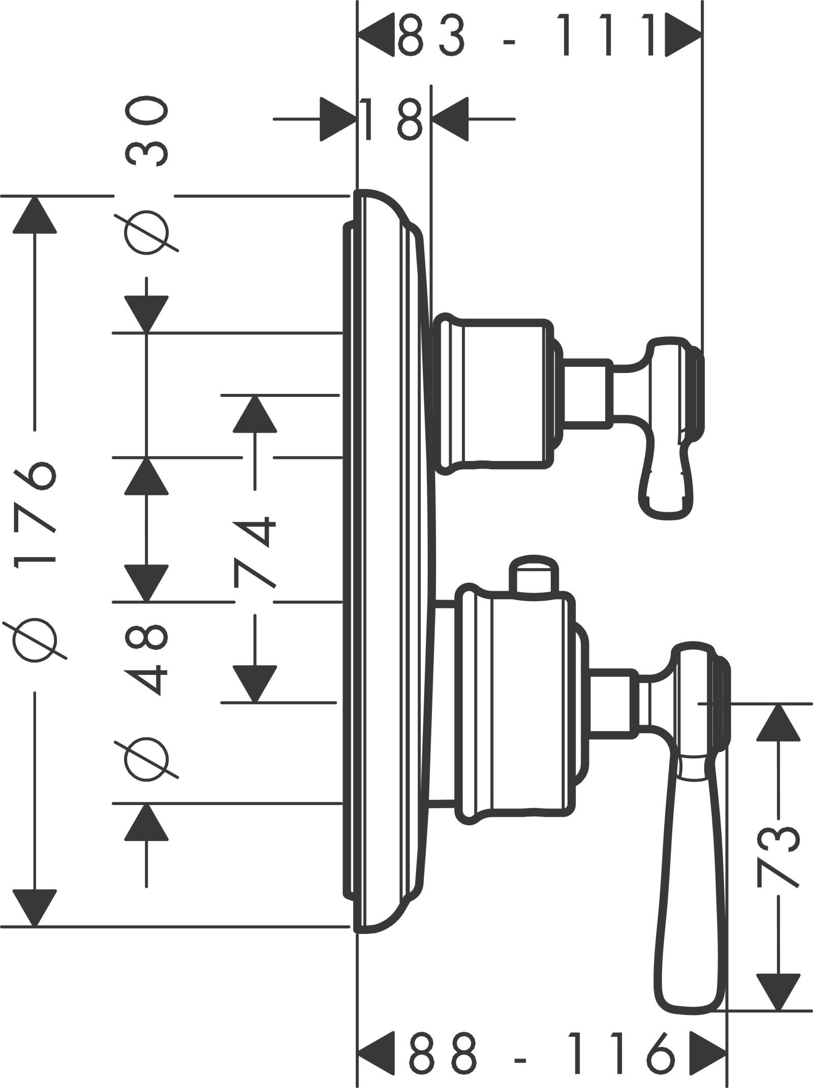 HG Thermostat UP Axor Montreux F-Set