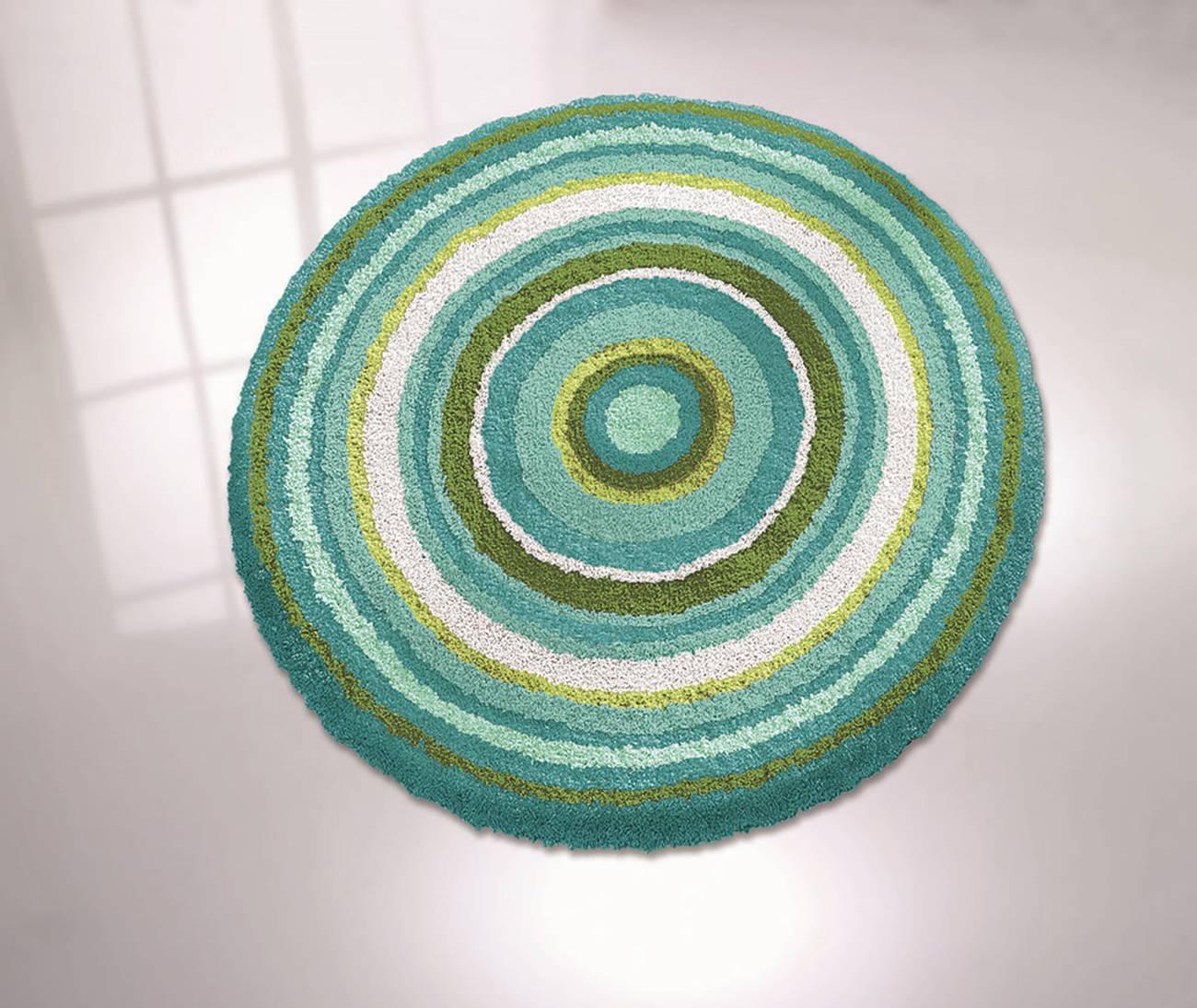 Badteppich Mandala 100 % Polyacryl Taupe
