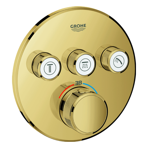 GROHE Thermostat Grohtherm SmartControl 29121 FMS rund 3 ASV cool sunrise