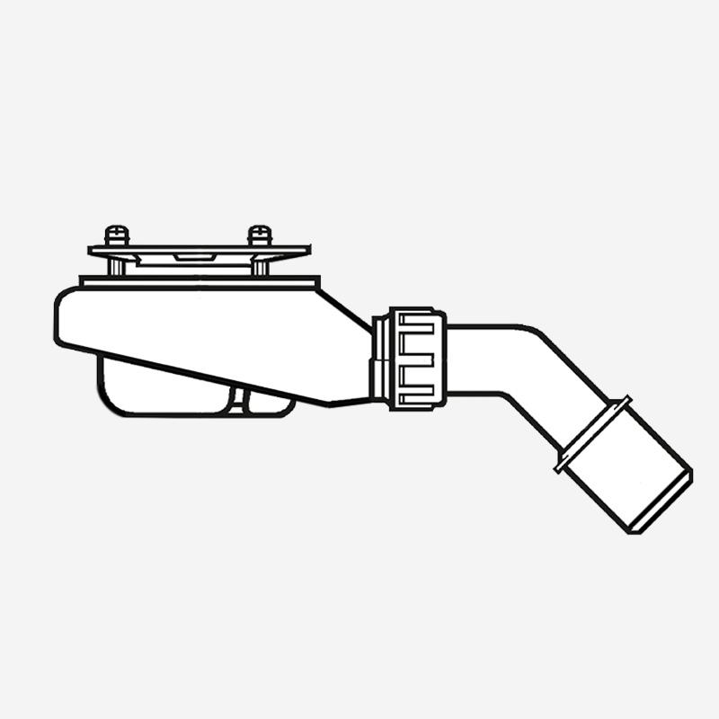 VB Ablaufgarnitur 290x350mm aus