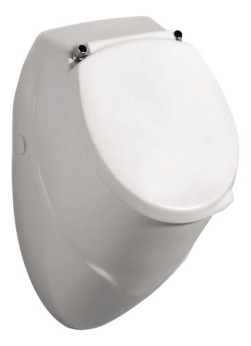 Badkeramik Urinal Komplett-Set inkl. Deckel