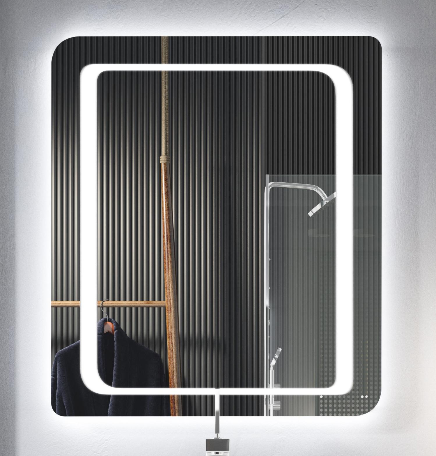 Thielsch Badmöbel Moon Spiegel 80 x 70cm, inklusive Bewegungsmelder, ja
