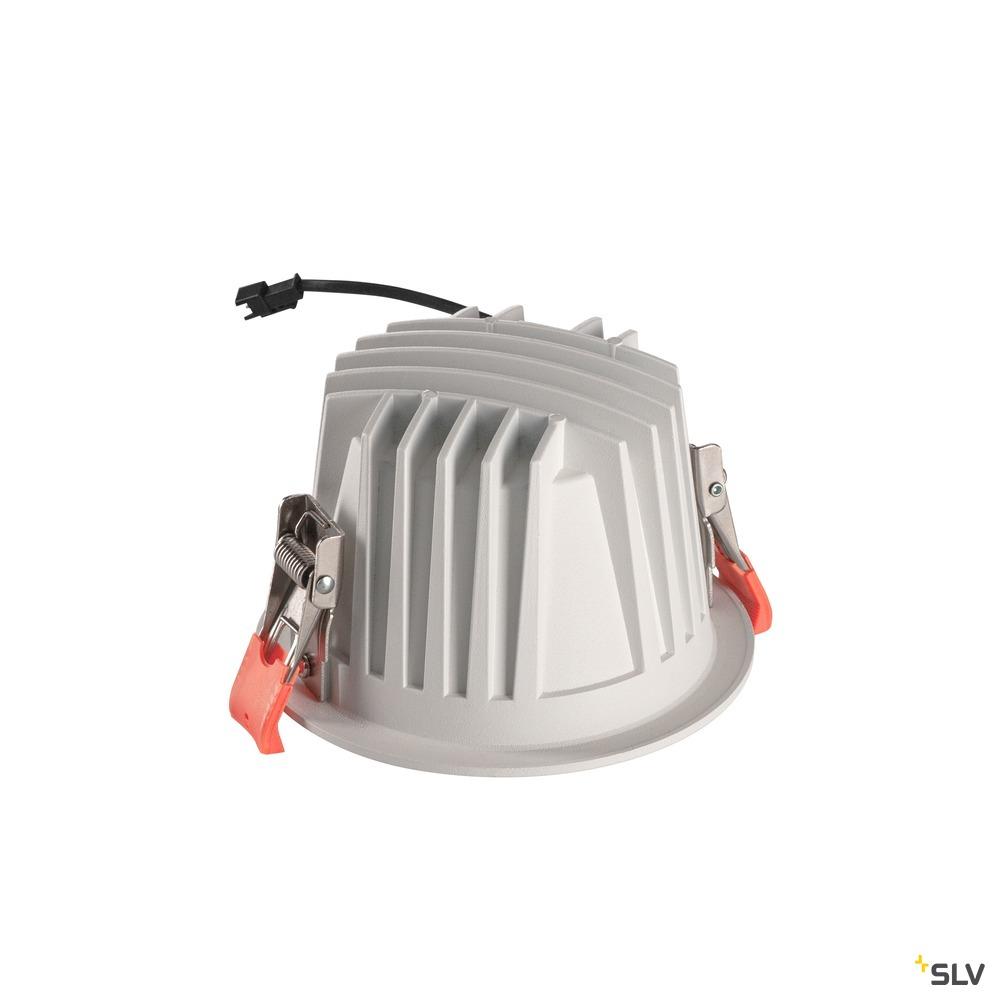 NUMINOS® DL L, Indoor LED Deckeneinbauleuchte weiß/schwarz 2700K 40°