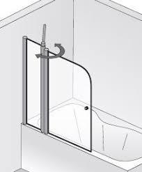 HSK Exklusiv Badewannenaufsatz mit Festelement - 1000 mm Alu Silber-Matt Rechts Grau ohne Beschichtung exkl. Aufmaßservice