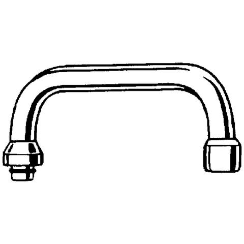 GROHE U-Auslauf 13028 Ausladung 200mm für Küchen-Wandbatterien, 1/2'' chrom