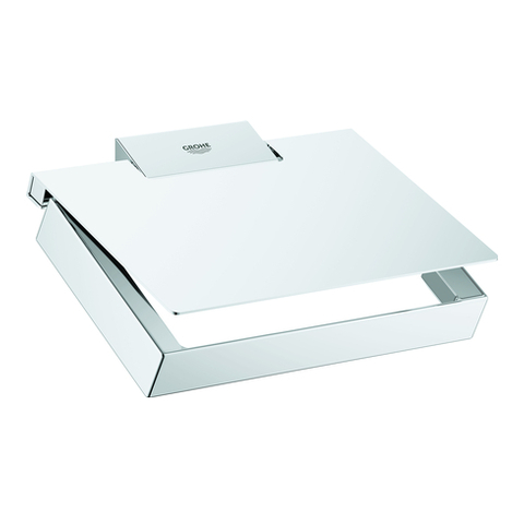 GROHE WC-Papierhalter Selection Cube 40781 Metall mit Deckel chrom