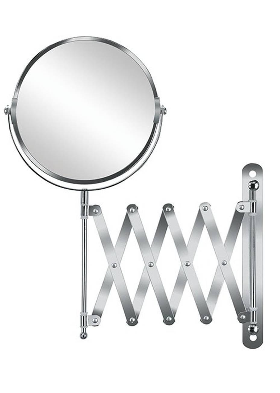 Kosmetikspiegel Move Mirror Edelstahl/Glas Silber Spiegel