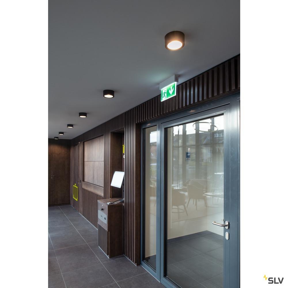 FERA 25 CL DALI, Indoor LED Deckenaufbauleuchte, schwarz weiß