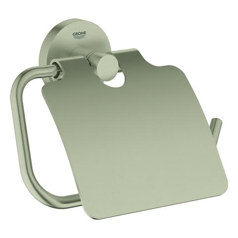 GROHE WC-Papierhalter Essentials 40367_1 mit Deckel nickel gebürstet