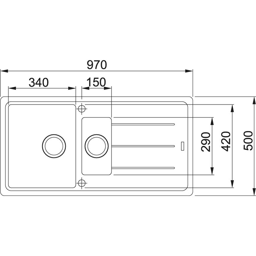 FRANKE Küchenspüle Basis 651 Glascier (11853)