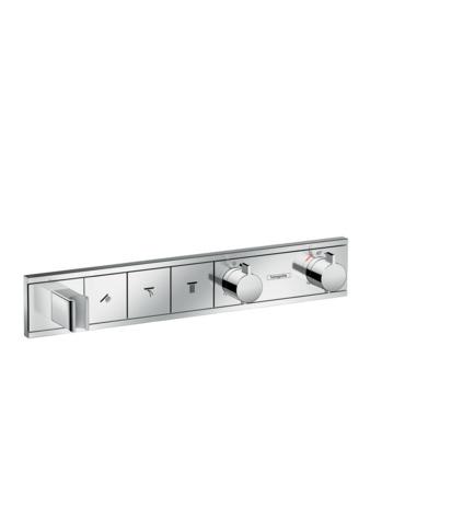HG Thermostat Unterputz RainSelect Fertigset 3 Verbraucher + Halter chrom