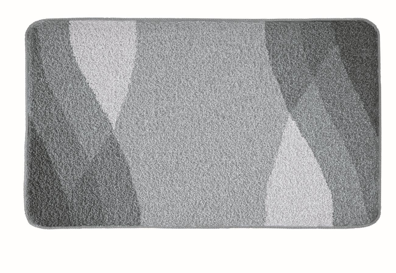 Badteppich Suri 100 % Polyacryl Schiefer 80x140 cm 55x 65 cm Schiefer