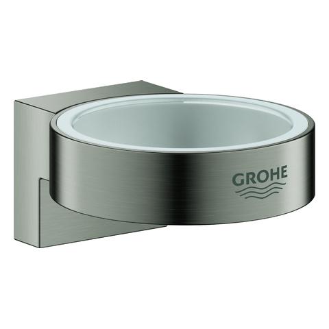 GROHE Halter Selection 41027 für Glas/Seifenspender hard graphite geb.